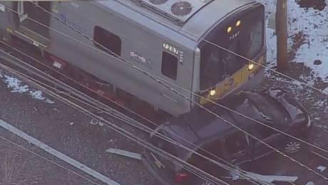 Long Island Rail Road (LIRR) Malverne train hits car