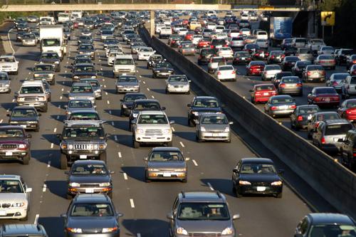 cars on urban road