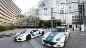 Dubai police car, lamborghini, ferrari