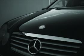 Mercedes Benz black car