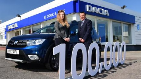 Dacia marks 100,000 Models sales in the UK