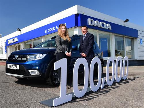Dacia marks 100,000 Models sales in the UK