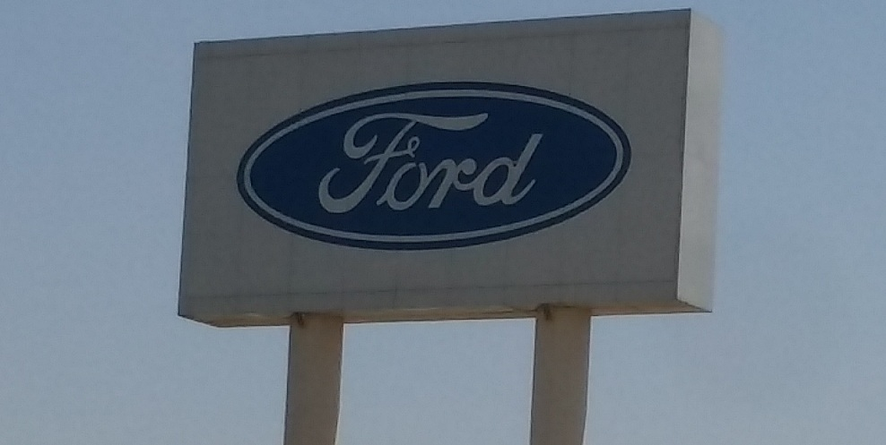 Ford logo in their auto plant