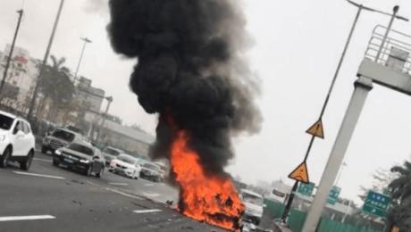 Tesla Model X crashed in Guangzhou, China
