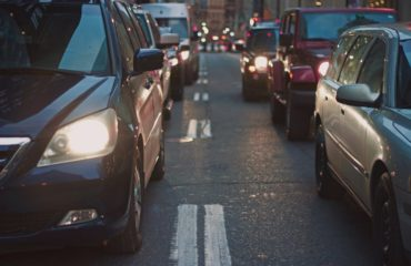 cars waiting on road