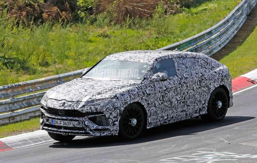 Lamborghini Urus spied
