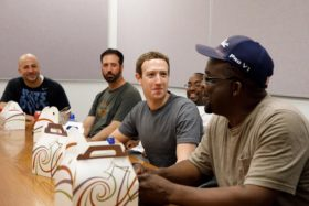 Mark Zuckerberg at Ford plant