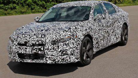 2018 Honda Accord camouflaged