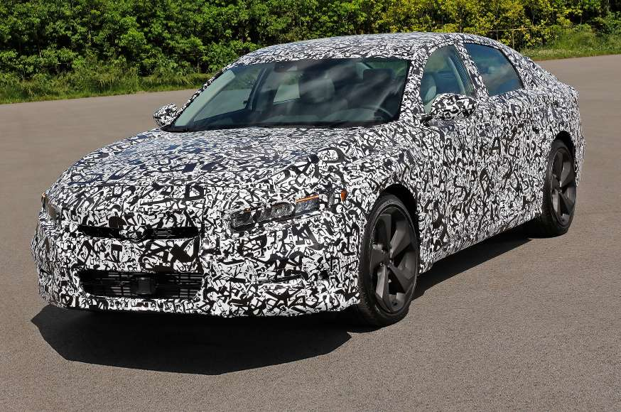2018 Honda Accord camouflaged