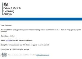 DVLA scam email