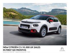 New Citroen C3 10,000 sales in the UK