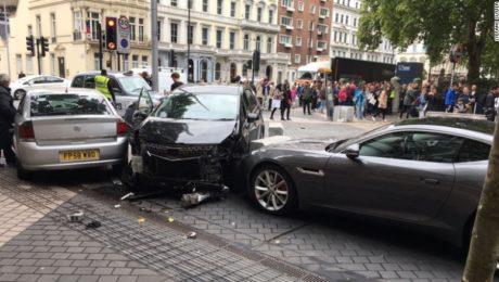 London Natural History Museum car crash