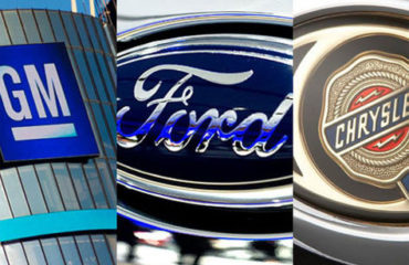Detroit Three automakers, General Motors, Ford Motor, Fiat Chrysler Automobiles