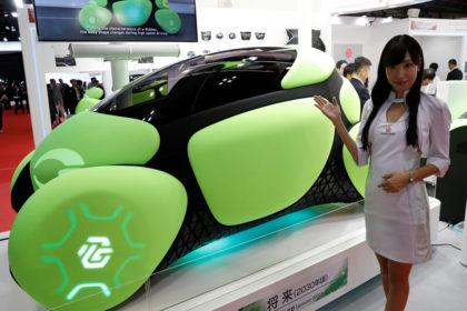Flesby II ultra-compact, one seater mobility car Toyoda Gosei, 2017 Tokyo Motor Show