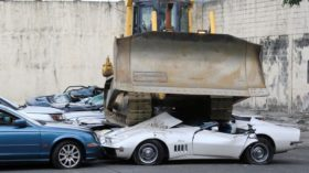 Philippines mercedes corvettes crushed philippines