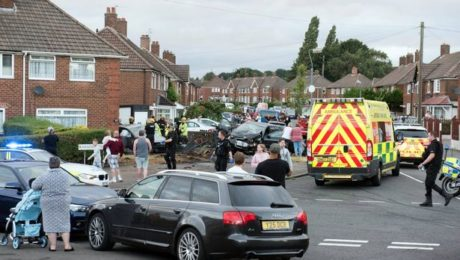 Kingsland Road, Kingstanding, police car chase collision
