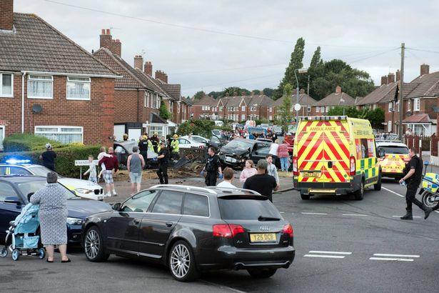 Kingsland Road, Kingstanding, police car chase collision