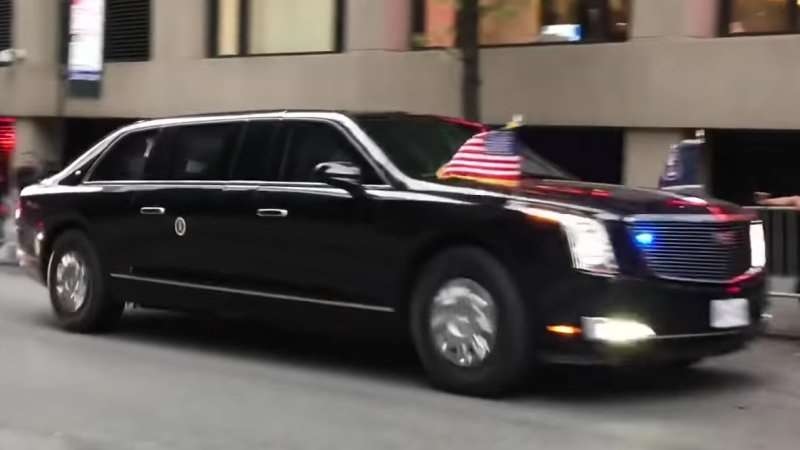 US presidential limousine images