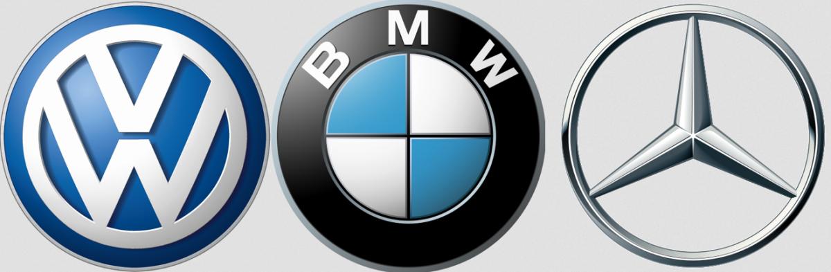 Volkswagen, BMW, Daimler logo