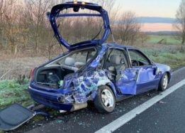 A421 driver injured