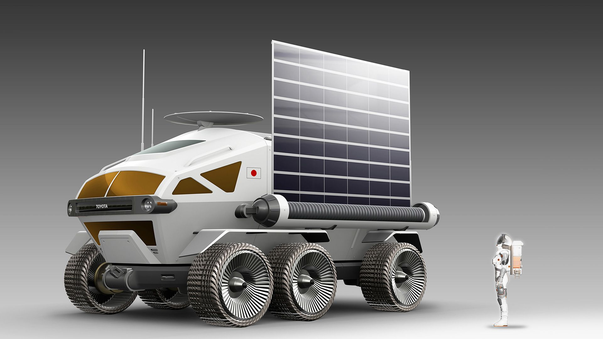 JAXA and Toyota 6-wheeled vehicle