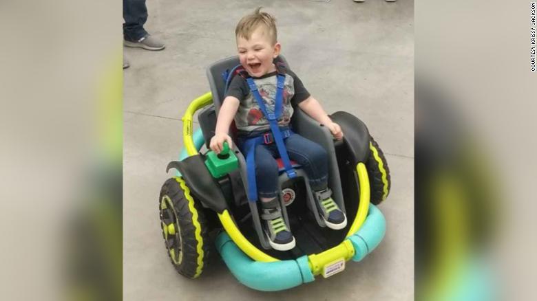 Farmington High School created robotics wheelchair for a 2-year old