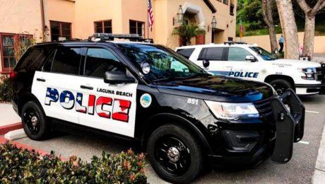 Police car in California Laguna Beach