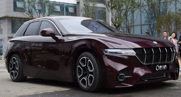 Grove hydrogen fuel cell car in China