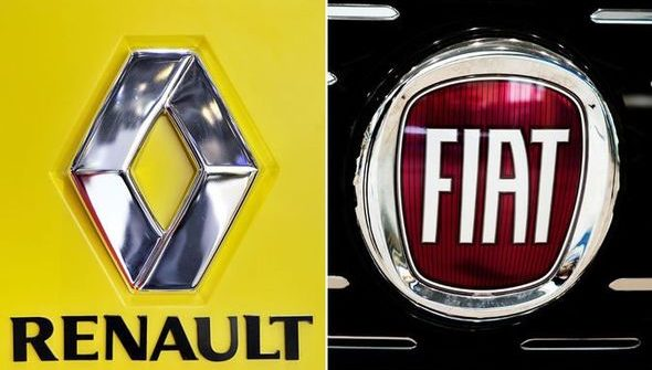 Renault and Fiat logo