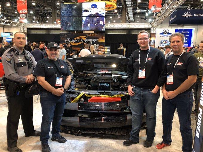 dodge challenger supercar SEMA car show