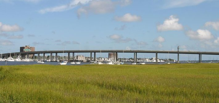 James Island Expressway bridge over the Ashley River, Charleston