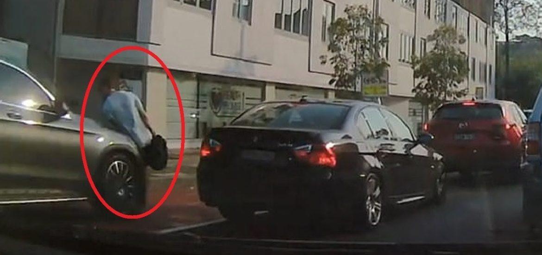 pedestrian hit by car, sent flying in Sydney