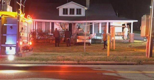 Car crashed into home in Garner, North Carolina