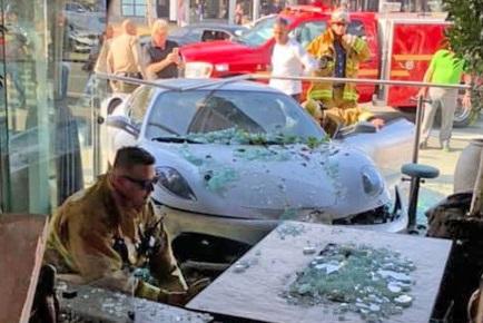 Lisa Vanderpump restaurant accident in West Hollywood.