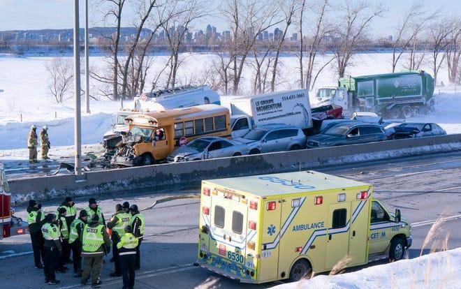 Canada, Quebec, multi vehicle crash
