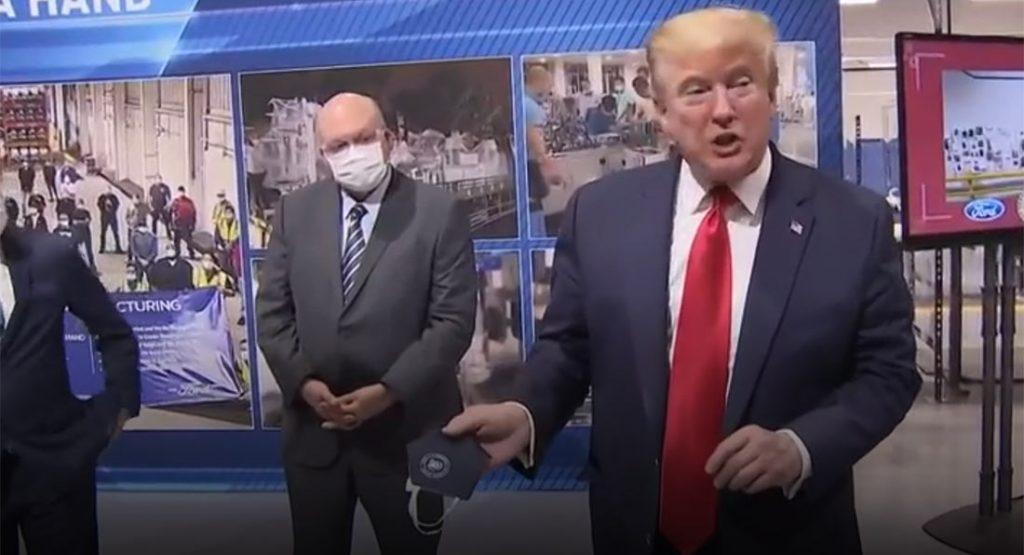 Donald Trump at Ford plant Michigan