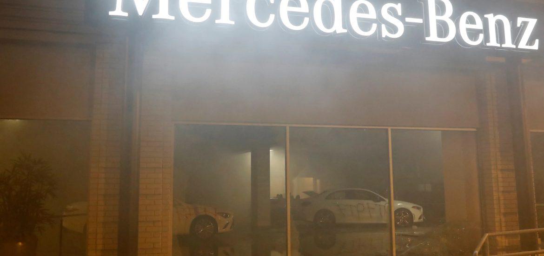 Mercedes Benz showroom vandalized in Oakland, California