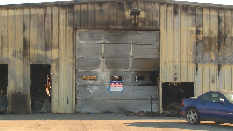 Perrysburg used car lot destroyed in arson fire