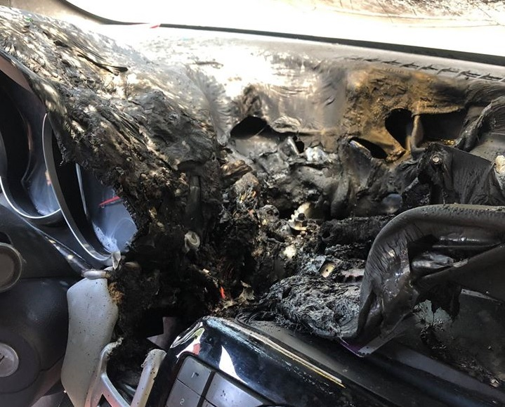 Hand sanitizer ignited in car in Waukegan