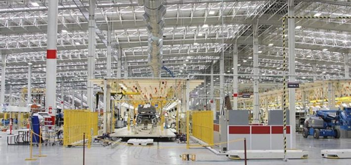 Nissan plant in Aguascalientes, Mexico