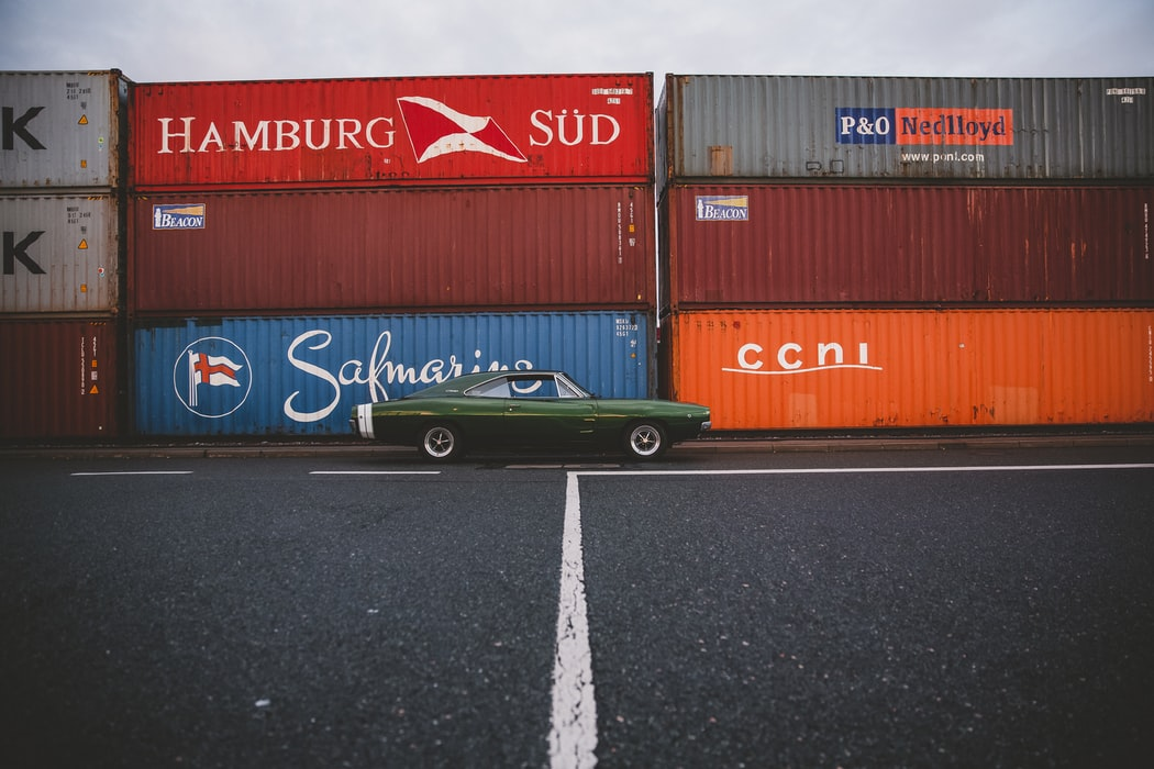1968 Dodge Charger Containerterminal Nürnberg Deutschland