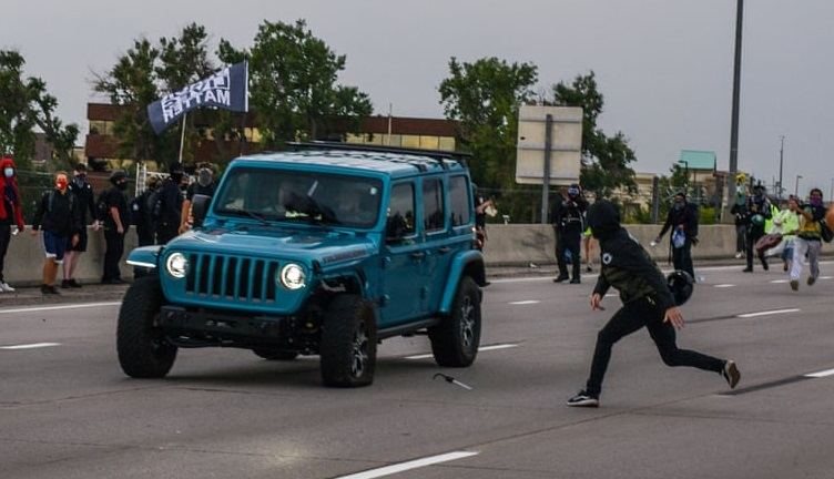 Car drove through Black Lives Matter protest in Aurora, Colorado