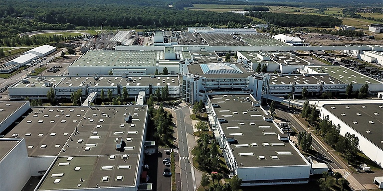 Daimler plant in Hambach, France