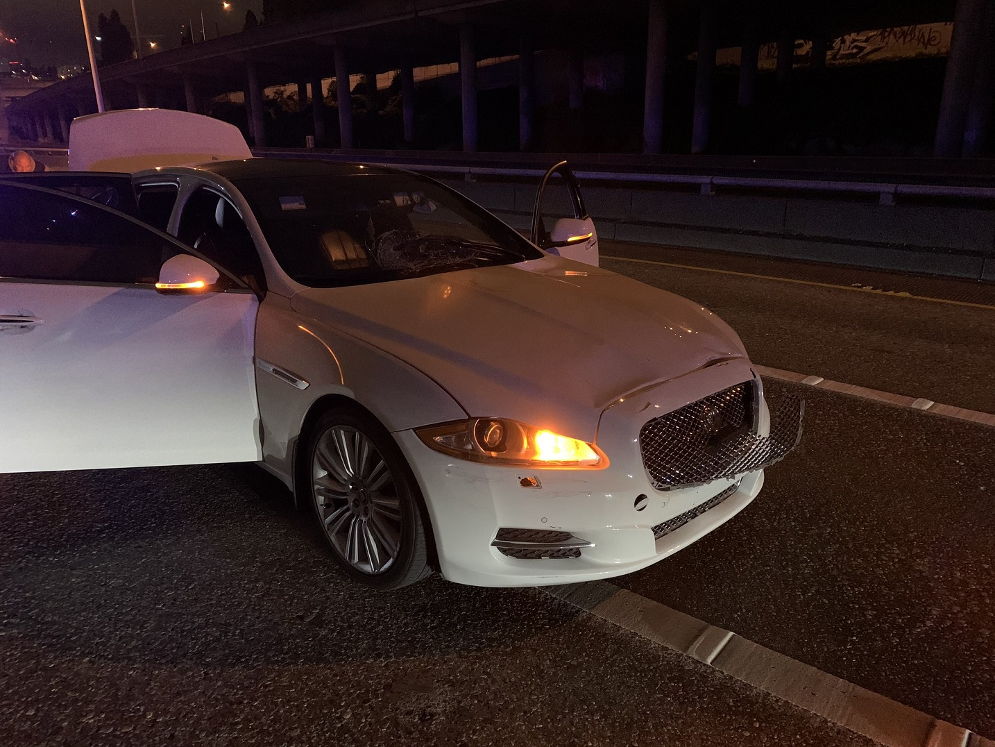 Suspected vehicle which killed a protester on Seattle Freeway