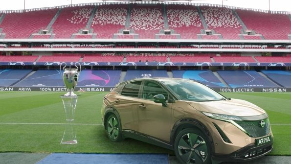 Nissan gives 100% electric LEAF drivers a UEFA Champions League Final