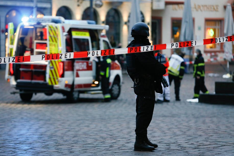 5 dead in western Germany after driver rams car
