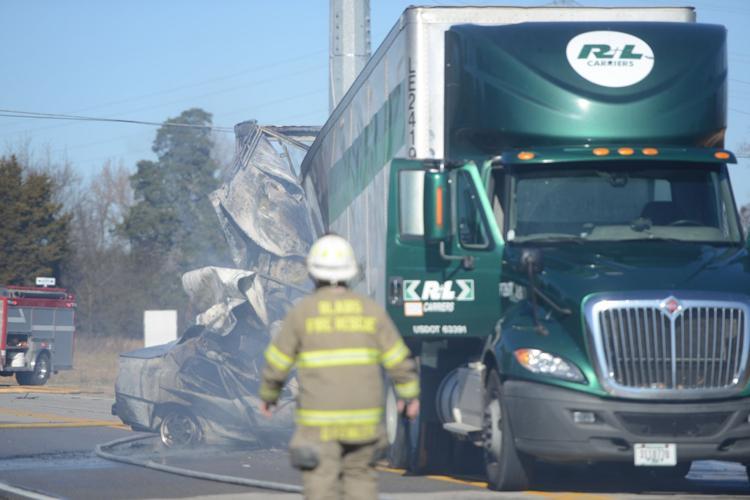 car and tractor-trailer crash in Pittsylvania County, Virginia