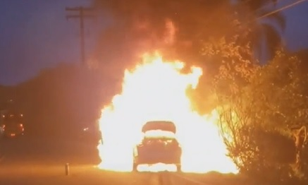 1 year old rescued from burning car in California