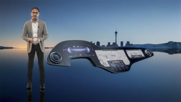 Mercedes-Benz presents the MBUX Hyperscreen at CES for Mercedes EQS