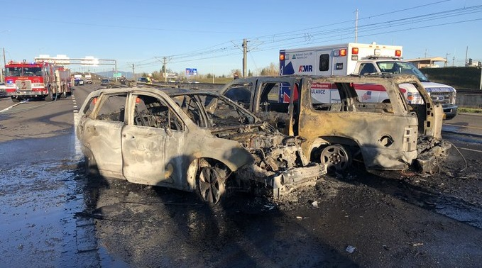 NE Portland crash, January 2021